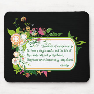 Buddha Single Candle Quote Mouse Pads