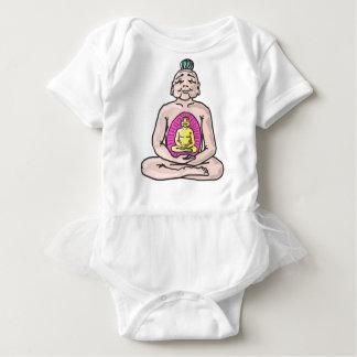 Buddha Sketch Vector Baby Bodysuit
