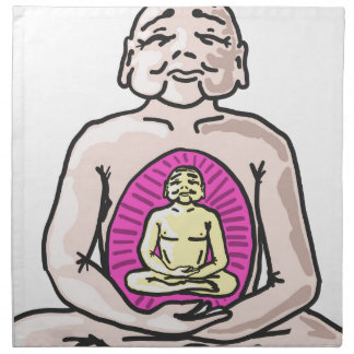 Buddha Sketch Vector Napkin
