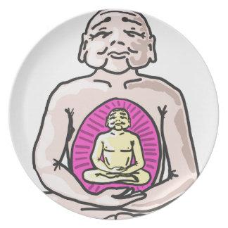 Buddha Sketch Vector Plate