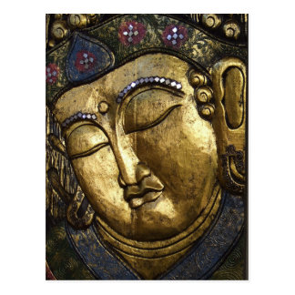 Buddha Sleeping Meditating Praying Eyes Closed Postcard