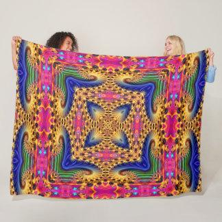 Buddha Spirit Fractal Mandala Fleece Blanket