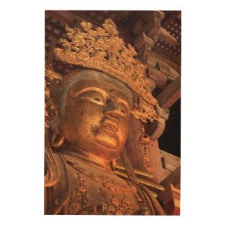 Buddha Statue Daibutsu Wood Wall Decor