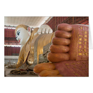 Buddha Statue Feet Card