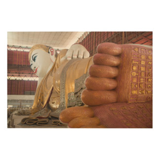 Buddha Statue Feet Wood Wall Art