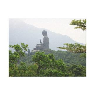 Buddha Statue in Hong Kong Canvas Print
