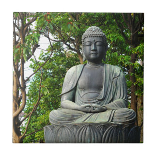 Buddha statue in Tokyo, Japan Ceramic Tile