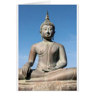Buddha Statue, Sri Lanka Card