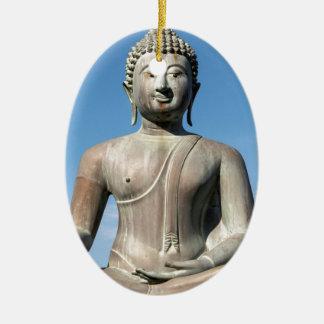 Buddha Statue, Sri Lanka Ceramic Oval Decoration