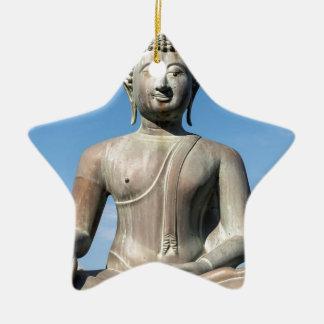 Buddha Statue, Sri Lanka Ceramic Star Decoration