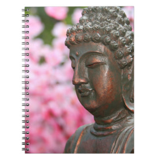 Buddha Statue With Cherry Blossoms Notebook