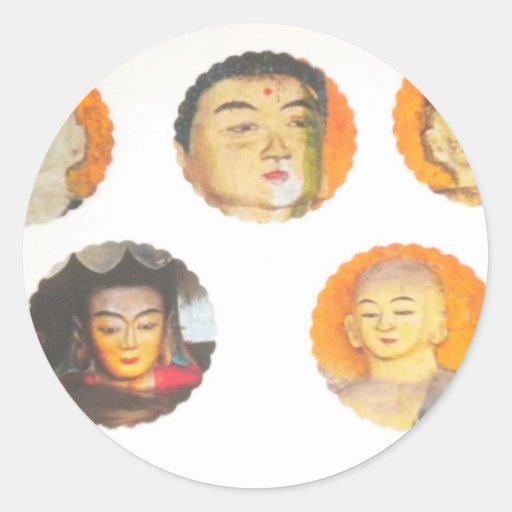 Buddha stickers statues aum