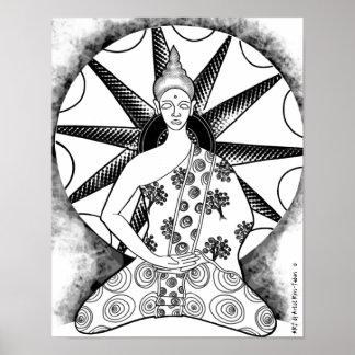 "Buddha Sun 16"" x 20"" Poster (by ART)"
