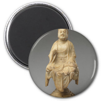 Buddha - Tang dynasty (618–907) 6 Cm Round Magnet