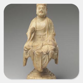 Buddha - Tang dynasty (618–907) Square Sticker