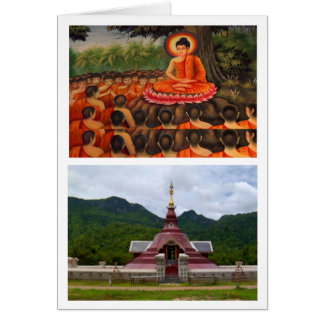 BUDDHA TEMPLE GREETING CARD