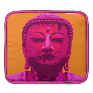 Buddha test pink and orange sleeve for iPads