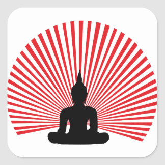 Buddha tha square sticker