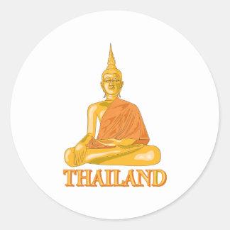 Buddha Thailand Classic Round Sticker