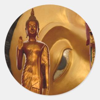 Buddha Thailand Peace Tranquility Serenity Round Sticker