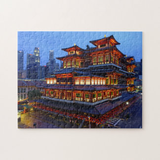 Buddha Tooth Relic Temple Singapore. Jigsaw Puzzle
