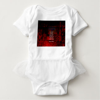 Buddha Uplifting Quote Don't Dwell In The Past Baby Bodysuit
