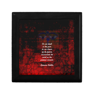 Buddha Uplifting Quote Don't Dwell In The Past Gift Box