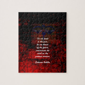 Buddha Uplifting Quote Don't Dwell In The Past Jigsaw Puzzle