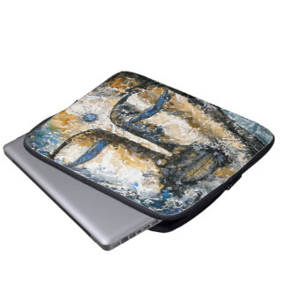 Buddha Watercolor Original Art Laptop Sleeve