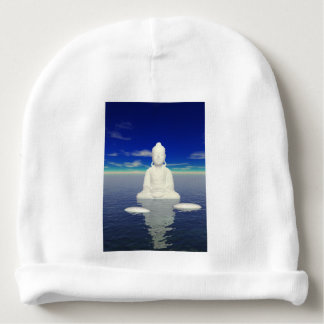 buddha white and two steps baby beanie