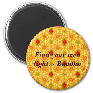 Buddha wisdom quote inspirational motivate 6 cm round magnet