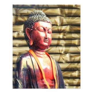 Buddha with Bamboo 11.5 Cm X 14 Cm Flyer