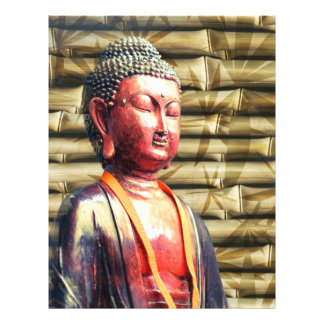 Buddha with Bamboo 21.5 Cm X 28 Cm Flyer