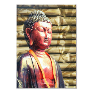 Buddha with Bamboo Card