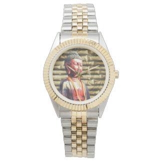 Buddha with Bamboo Wrist Watch