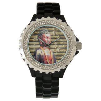 Buddha with Bamboo Wrist Watches