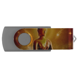 Buddha with glowing light USB flash drive