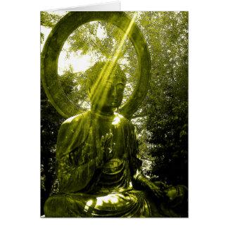 buddha with rays card