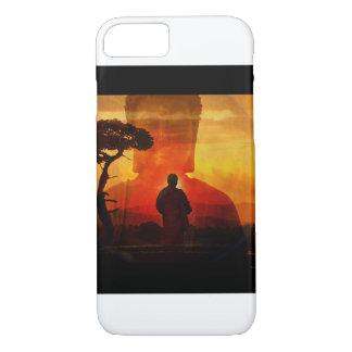 Buddha With Sunset Background iPhone 7 Case