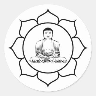 Buddha Yoga Lotus Sticker