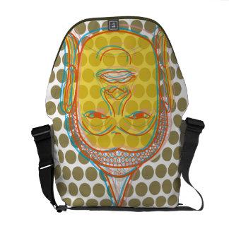 Buddha Zen Modern Pop Dots Graphic Vector Art Bag Commuter Bag