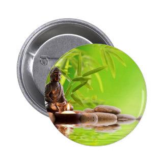 buddha zen serenity garden 6 cm round badge