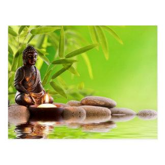 buddha zen serenity garden postcard