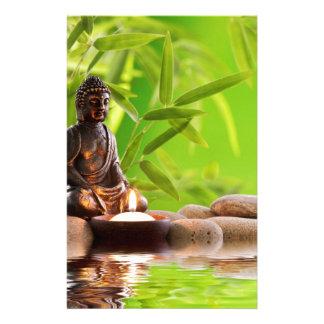 buddha zen serenity garden custom stationery
