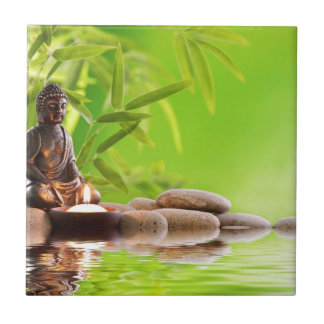 buddha zen serenity garden ceramic tiles