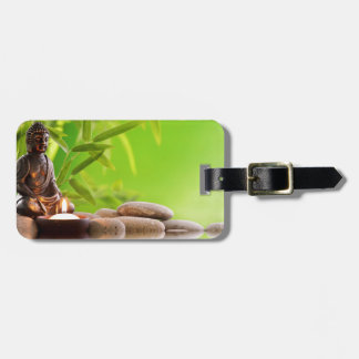 buddha zen serenity garden travel bag tag