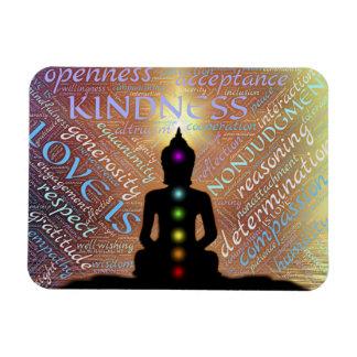 Buddha Zen Spiritual Enlightenment Love Coaster Rectangular Photo Magnet