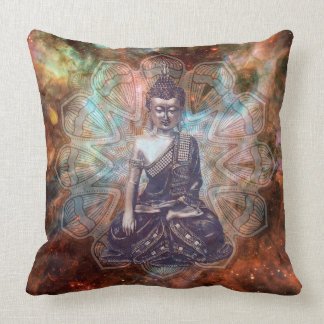 Buddha Zen Spiritual Enlightenment square pillow