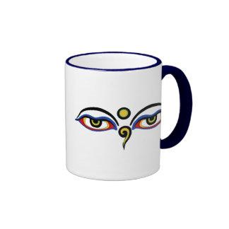 Buddha's Eyes Ringer Mug
