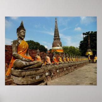 Buddhas in Ayutthaya Poster